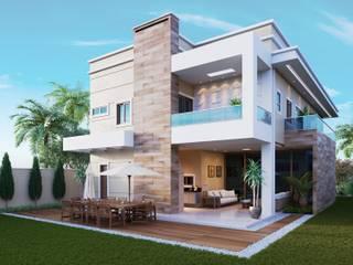Casa em condomínio privativo: Casas familiares  por AUPI ARQUITETURA