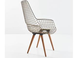 İnter Mobilya – Uzun Zira Ahşap Ayaklı Metal Sandalye - INTER:  tarz