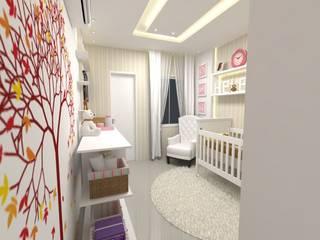 Suíte Baby Helena Quarto infantil eclético por Dayane Medeiro Arquitetura e Interiores Eclético