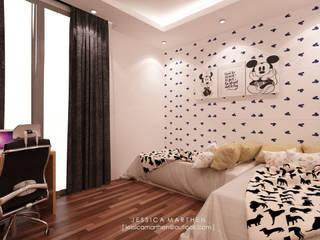 Mr VG Home, Kebagusan Terrace Jakarta JESSICA DESIGN STUDIO Modern Bedroom