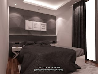 Scandinavian style bedroom by JESSICA DESIGN STUDIO Scandinavian
