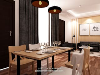 Mr VG Home, Kebagusan Terrace Jakarta JESSICA DESIGN STUDIO Scandinavian style dining room