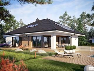 Tanita II G2 - nowoczesny dom, który uwodzi przytulnością! : styl , w kategorii Dom jednorodzinny zaprojektowany przez Pracownia Projektowa ARCHIPELAG,Nowoczesny