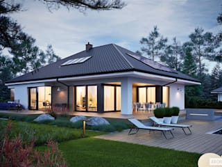 Tanita II G2 - nowoczesny dom, który uwodzi przytulnością! od Pracownia Projektowa ARCHIPELAG Nowoczesny