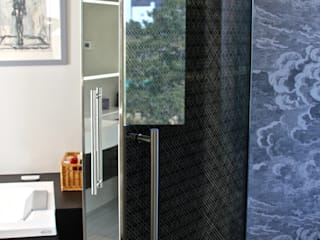 Glass Door with Bespoke Filigree Pattern by Alguacil & Perkoff Ltd. Modern