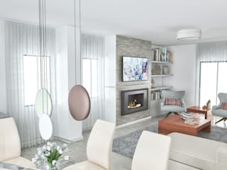 Projectos em 3D: Salas de estar  por MY STUDIO HOME - Design de Interiores