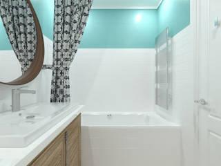 Дизайн-проект квартиры в SAMPO, 60 кв.м.: Ванные комнаты в . Автор – Loft&Home