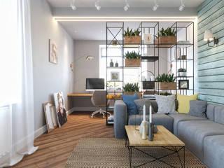 Дизайн-проект квартиры в SAMPO, 60 кв.м.: Гостиная в . Автор – Loft&Home