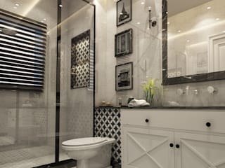 Spaces Levels Studio Eclectic style bathroom
