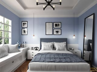 Spaces Levels Studio Eclectic style bedroom