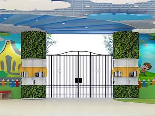 THIẾT KẾ NỘI THẤT TRƯỜNG HỌC 20 - 10 HÀ NỘI:  Phòng học/Văn phòng by công ty cổ phần xây dựng và nội thất BMC
