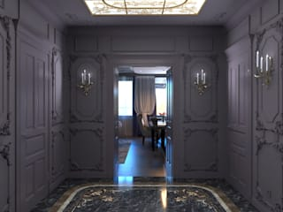Pasillos, vestíbulos y escaleras de estilo ecléctico de BMM Ecléctico