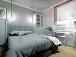 Mieszkanie dla dwojga: styl , w kategorii Sypialnia zaprojektowany przez Karolina Czech Pracownia Architektury i Wnętrz