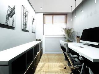 Mieszkanie dla dwojga: styl , w kategorii Domowe biuro i gabinet zaprojektowany przez Karolina Czech Pracownia Architektury i Wnętrz