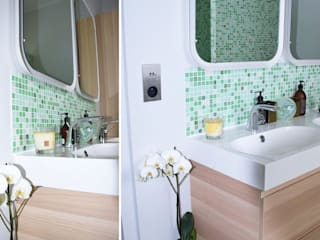 Une salle de bain vitaminée  • Le Vesinet 78:  de style  par Agnès Dandine - Chichichic