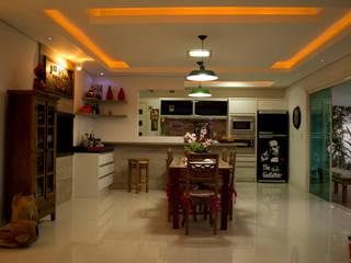 cozinha e sala de jantar vintage por ELEVO ARQUITETURA