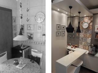 antes e depois cozinha por ELEVO ARQUITETURA