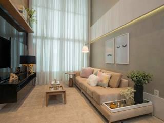 Apartamento JL Salas de estar modernas por Dome arquitetura Moderno