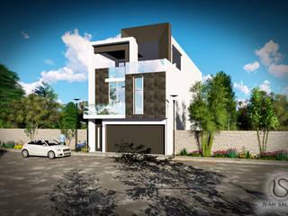 Proyecto Casa Habitación Barrios: Casas unifamiliares de estilo  por Salazar Arquitectos