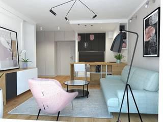 Mieszkanie w Gdańsku Wrzeszczu: styl , w kategorii Salon zaprojektowany przez Interior Idea Projektowanie Wnętrz
