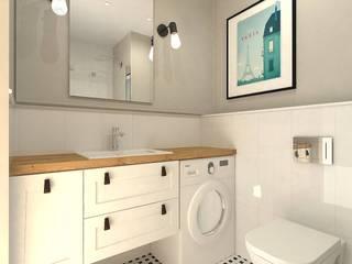Mieszkanie w Gdańsku Wrzeszczu: styl , w kategorii Łazienka zaprojektowany przez Interior Idea Projektowanie Wnętrz