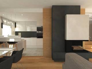 Dom Gdynia Oksywie: styl , w kategorii Salon zaprojektowany przez Interior Idea Projektowanie Wnętrz