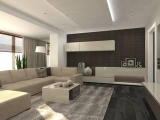 Dom w Essen: styl , w kategorii Salon zaprojektowany przez Interior Idea Projektowanie Wnętrz