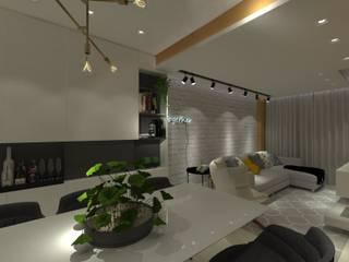 Dining room by Natália de Bona Arquitetura