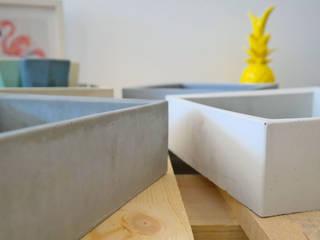 space Betonschale Jung und Grau WohnzimmerAccessoires und Dekoration Beton