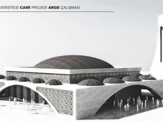 HİTİT ÜNİVERSİTESİ CAMİ ARGE PROJESİ Minimalist Evler Neon Mimarlık Minimalist