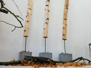 wood Betonbirkenstamm Jung und Grau Flur, Diele & TreppenhausAccessoires und Dekoration Beton