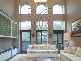 大真室內裝修設計有限公司 ห้องนั่งเล่น ไม้จริง Wood effect