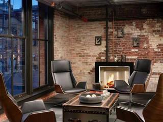 Proyecto diseño de blanco y negro :  de estilo  por casas eco constructora