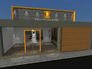 Diseño Oficina Comercial: Oficinas de estilo  por B+ Studio