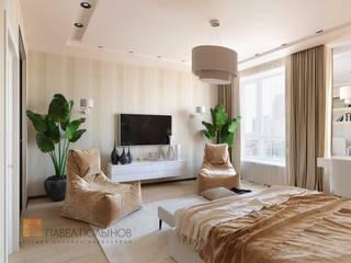 Dormitorios de estilo  por Студия Павла Полынова, Minimalista