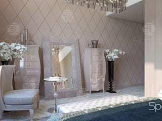 Luxury modern Master bedroom interior design and decor in Dubai the UAE Modern Bedroom by Spazio Interior Decoration LLC Modern