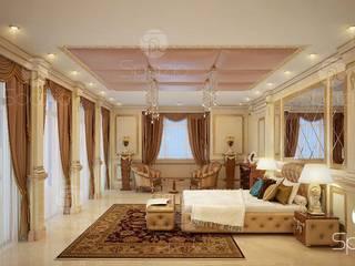 Luxury classic master bedroom interior design and decor in Dubai the UAE Classic style bedroom by Spazio Interior Decoration LLC Classic