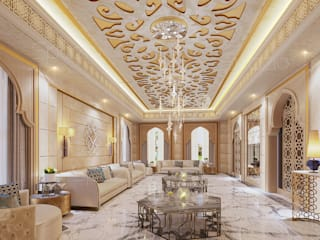 Luxury Majlis interior design in Dubai by Spazio Interior Decoration LLC Classic