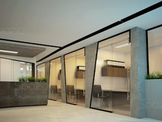 Modern office interior design in Dubai by Spazio Interior Decoration LLC Minimalist