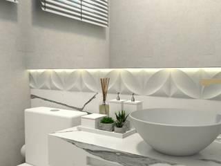 Projeto de interiores: Banheiros  por Letícia Saldanha Arquitetura