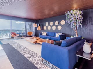 Salones de estilo  de ECKEN virtual spaces, Moderno