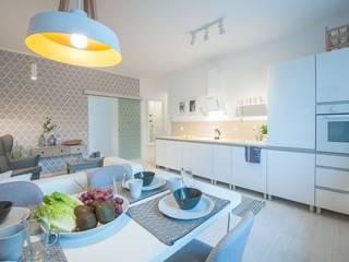 Apartament w Łodzi: styl , w kategorii Jadalnia zaprojektowany przez Pasja Do Wnętrz