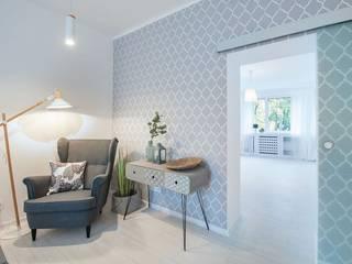 Apartament w Łodzi: styl , w kategorii Salon zaprojektowany przez Pasja Do Wnętrz