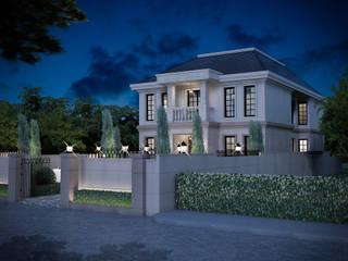 งานออกแบบบ้านพักอาศัย พระราม9 (ออกแบบภายนอกและภายใน):   by I2D Studio