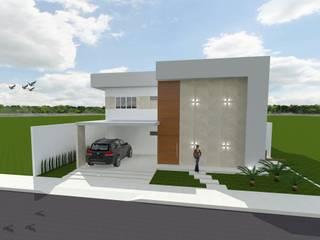 Residência E|L: Casas familiares  por Jorge Júnior Arquitetura,Moderno