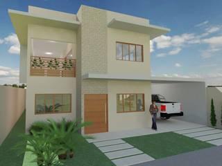 Residência M|B: Casas familiares  por Jorge Júnior Arquitetura,Moderno