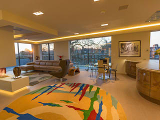 Exeter Penthouse:  Living room by Intelligent Abodes Limited