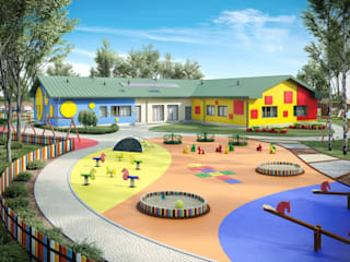Przedszkole Nowoczesne domy od Biuro architektoniczne KB Projekt Nowoczesny