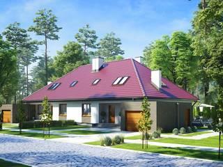 Dom jednorodzinny: styl , w kategorii Domy zaprojektowany przez Biuro architektoniczne KB Projekt