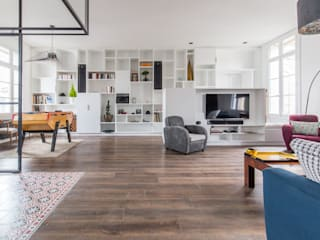 Living room by Brengues Le Pavec architectes